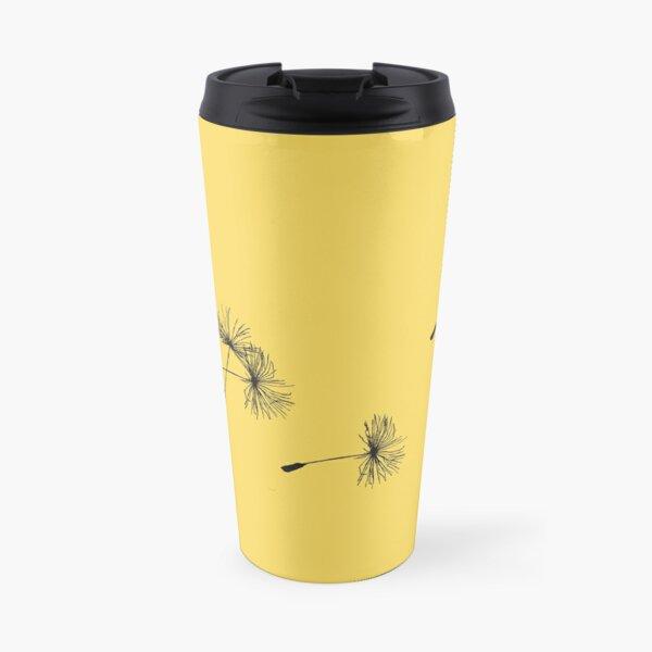 Dandelions in the Wind Travel Mug