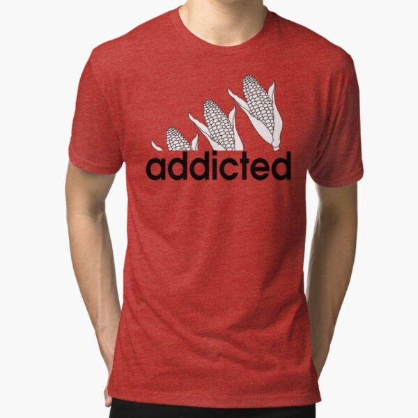 Nebraska Corn Addicted Shirt Tri-blend T-Shirt