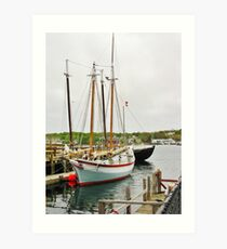 The Pinky & The Dory Fisherman ~ Gloucester, Massachusetts Art Print