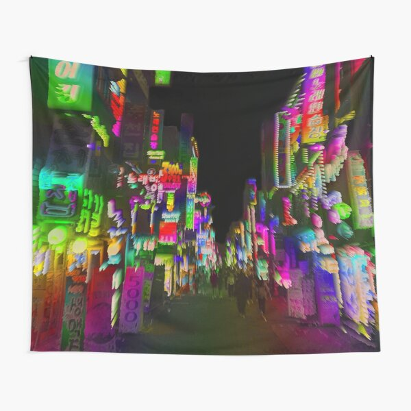 acid trip night Tapestry