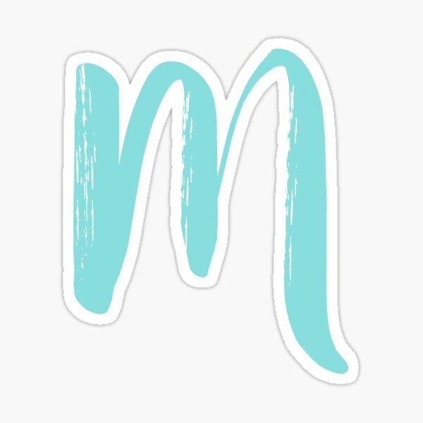 Lettre bleue M Sticker