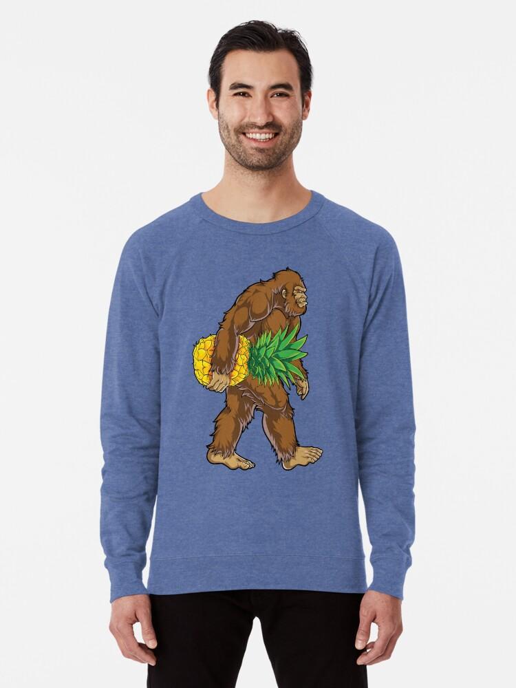 67840e60 Bigfoot Carrying Pineapple T Shirt Funny Sasquatch Gifts Tee Men Women Kids  Boys Tees Lightweight Sweatshirt