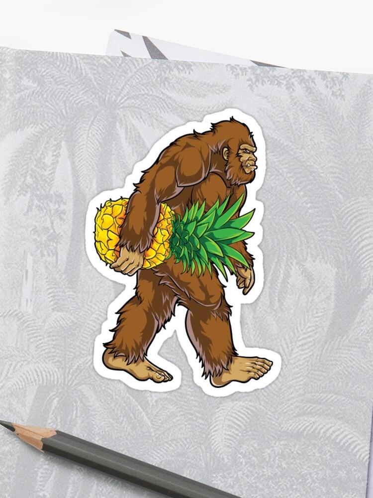 3c647d67 Bigfoot Carrying Pineapple T Shirt Funny Sasquatch Gifts Tee Men Women Kids  Boys Tees Sticker