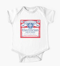 Funny Electrician Shirt Beer Drinking Retired Gift T-Shirt One Piece - Short Sleeve