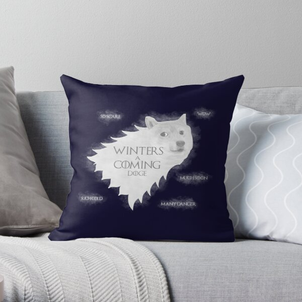 Winters a Coming Throw Pillow