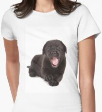 Black labrador puppy yawns T-Shirt