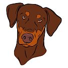 Red and Tan Doberman by rmcbuckeye