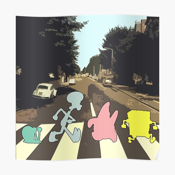 Abbey Road Spongebob Style Poster