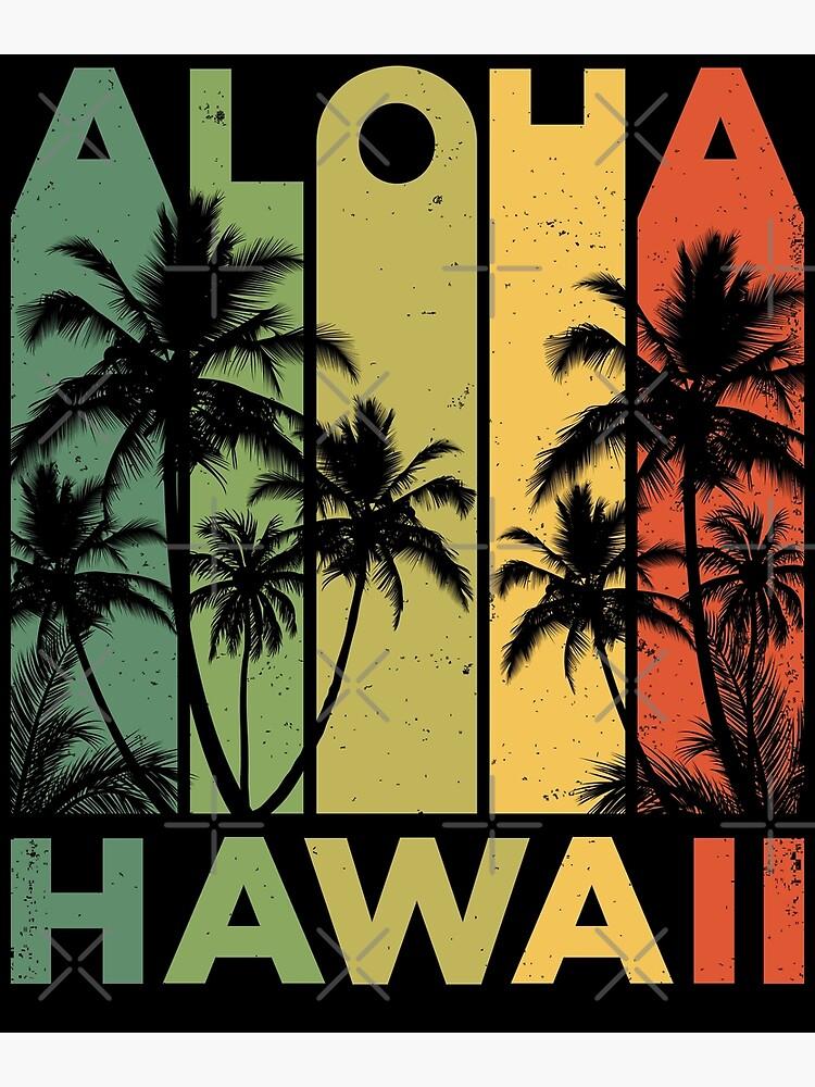 b487b40e Aloha Hawaii Hawaiian Island T shirt Vintage 1980s Throwback Retro Gifts  Tees Men Women Kids by