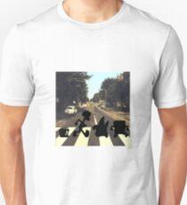 Camiseta unisex Estilo de Bob Esponja de Abbey Road (versión Silhouette)