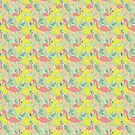 Tropical Flamingos by southerlydesign
