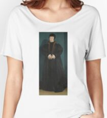 Hans Holbein the Younger - Christina of Denmark, Duchess of Milan Women's Relaxed Fit T-Shirt