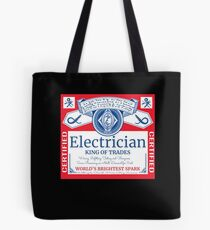 Funny Electrician Shirt Beer Drinking Retired Gift T-Shirt Tote Bag