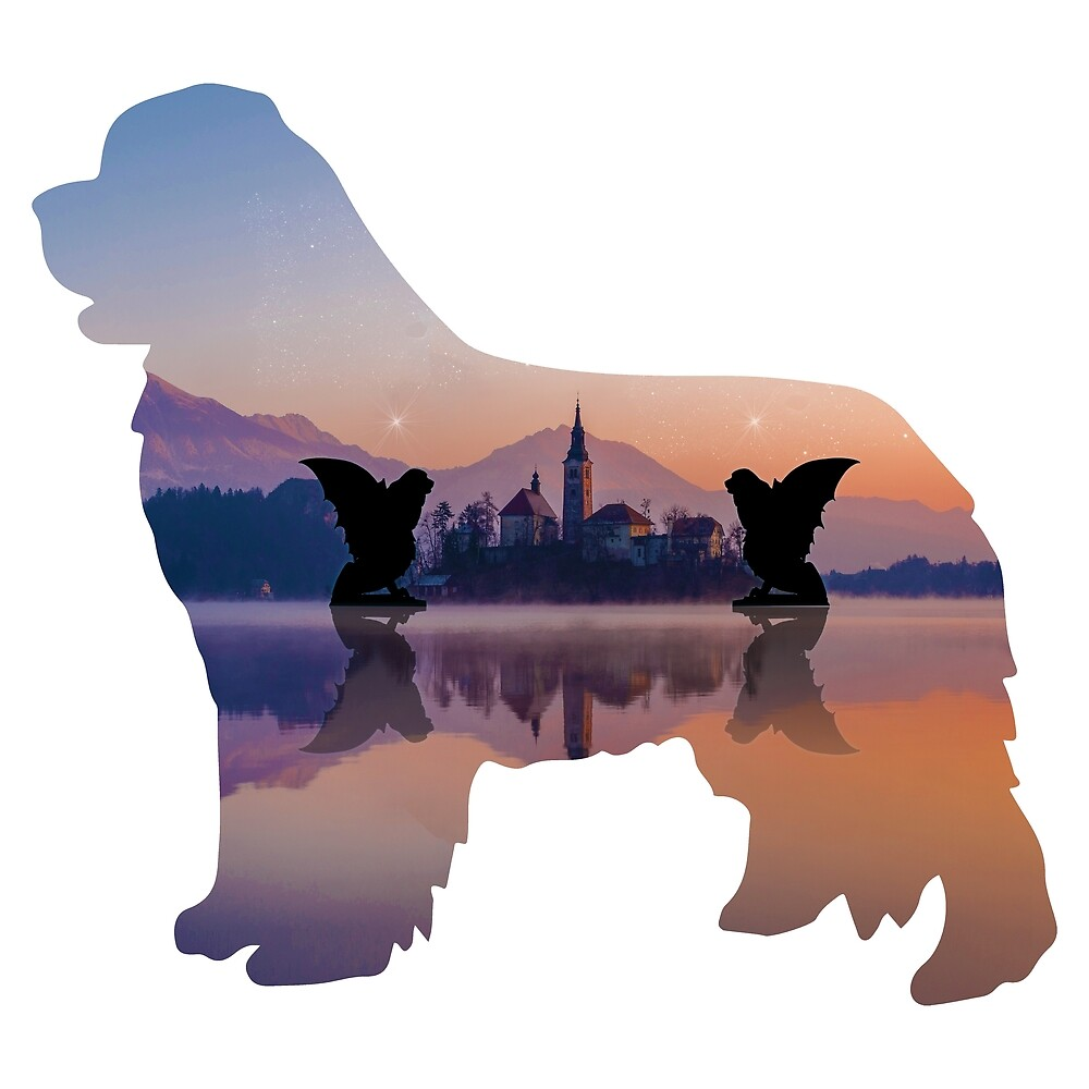 Newf Guardians (Silhouette) by Christine Mullis