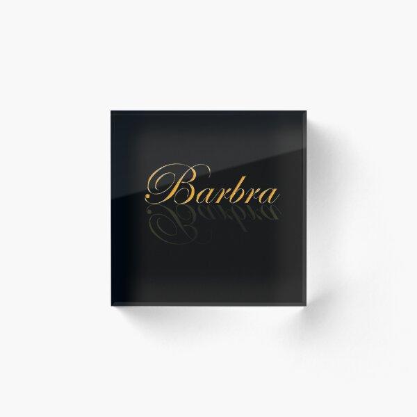 BARBRA Acrylic Block