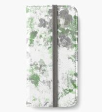 Digital art of flower pattern and wall texture mixed. iPhone Wallet/Case/Skin