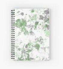 Digital art of flower pattern and wall texture mixed. Spiral Notebook