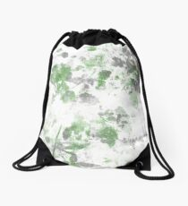 Digital art of flower pattern and wall texture mixed. Drawstring Bag