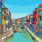 Burano Sketch by Kay Brewer