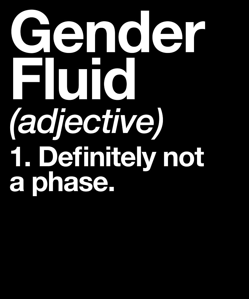 "gender fluid definition non-binary lgbt pride design"" by yesqueen"