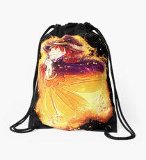 Animal cartoon burning Drawstring Bag