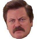 ron swanson head by lorih96