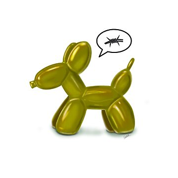 BALLOON DOG (GOLD) by ilustradsn