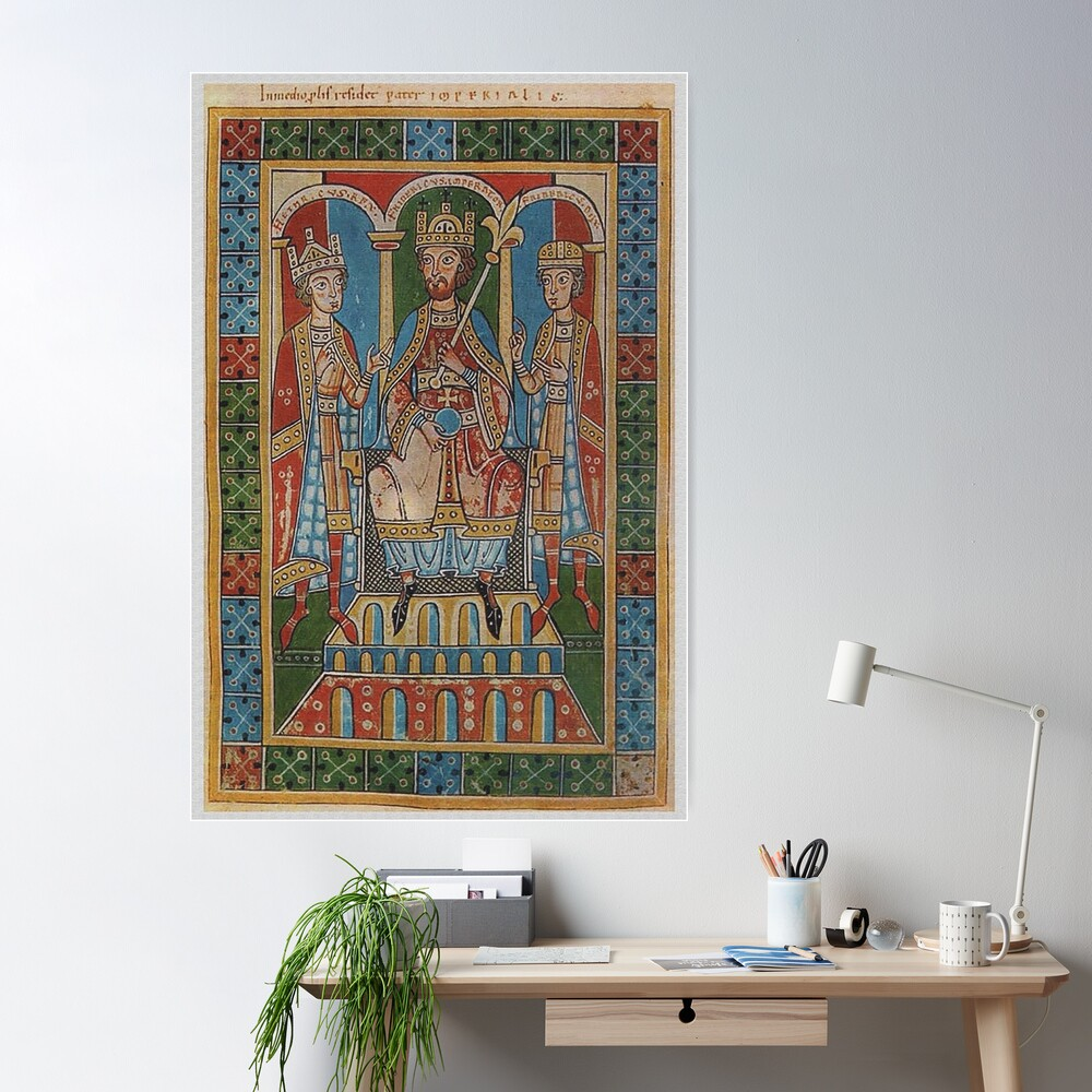 Frederick I Barbarossa and his two sons Poster