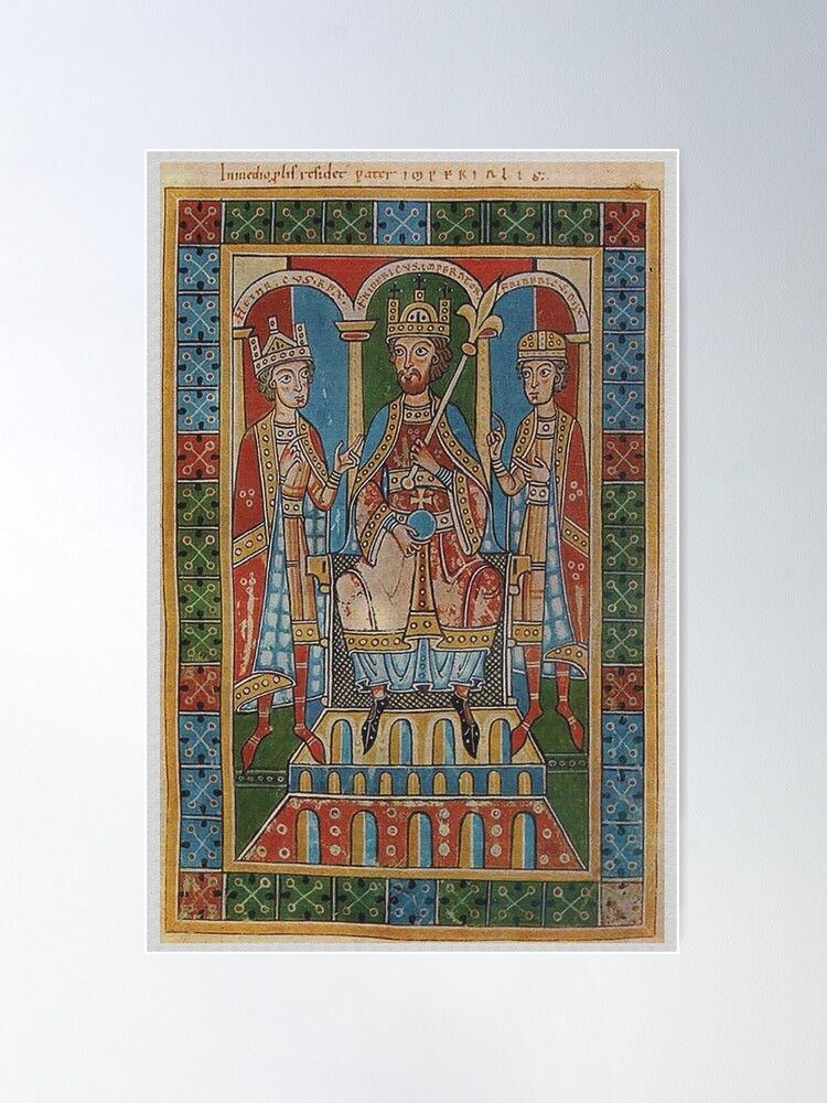 Alternate view of Frederick I Barbarossa and his two sons Poster