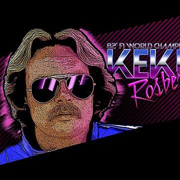 Keke Rosberg 80's vibe by Tazka