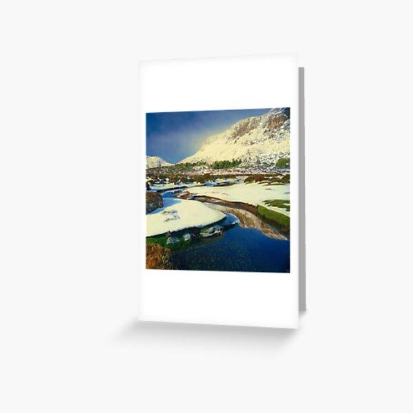 Walls of Jerusalem in winter Greeting Card