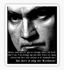 There is only one Beethoven! Sticker