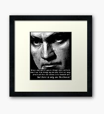 There is only one Beethoven! Framed Print