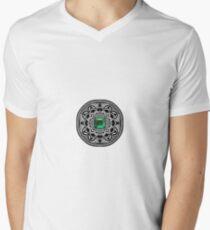 Emerald Mandala Camiseta para hombre de cuello en v
