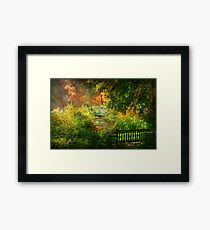 Autumn - Alone with your thoughts Framed Print
