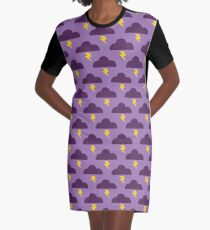 Embrace the Stormy Weather Graphic T-Shirt Dress