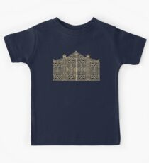 French Wrought Iron Gate | Louis XV Style | Black and Gold Kids Tee