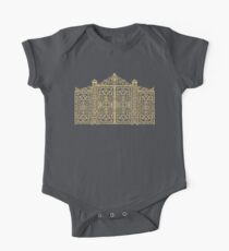 French Wrought Iron Gate | Louis XV Style | Black and Gold One Piece - Short Sleeve