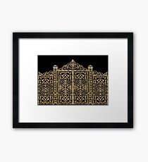 French Wrought Iron Gate | Louis XV Style | Black and Gold Framed Print