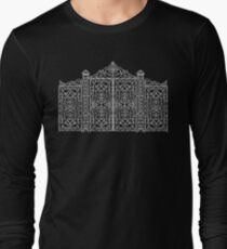 French Wrought Iron Gate | Louis XV Style | Black and Silvery Grey Long Sleeve T-Shirt