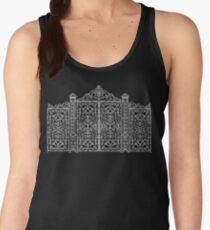French Wrought Iron Gate | Louis XV Style | Black and Silvery Grey Women's Tank Top