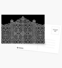 French Wrought Iron Gate | Louis XV Style | Black and Silvery Grey Postcards