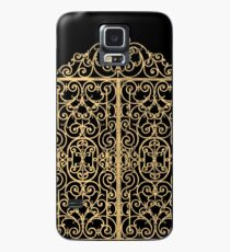 French Wrought Iron Gate | Louis XV Style | Black and Gold Case/Skin for Samsung Galaxy