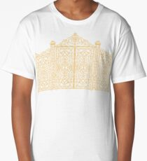French Wrought Iron Gate | Louis XV Style | Black and Gold Long T-Shirt