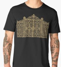 French Wrought Iron Gate | Louis XV Style | Black and Gold Men's Premium T-Shirt