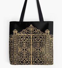 French Wrought Iron Gate | Louis XV Style | Black and Gold Tote Bag