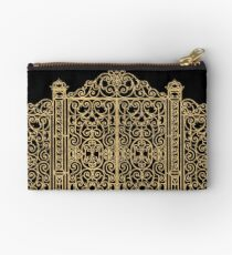 French Wrought Iron Gate | Louis XV Style | Black and Gold Studio Pouch