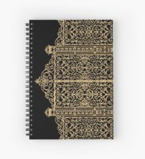 French Wrought Iron Gate | Louis XV Style | Black and Gold Spiral Notebook