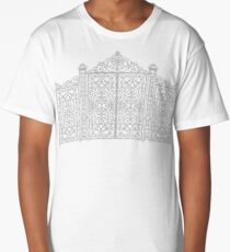 French Wrought Iron Gate | Louis XV Style | Black and Silvery Grey Long T-Shirt