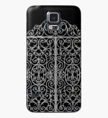 French Wrought Iron Gate | Louis XV Style | Black and Silvery Grey Case/Skin for Samsung Galaxy
